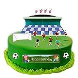 Fußball Szene aus Essbar Wafer Papier ideal für Dekorieren Ihre Geburtstag Dekorationen einfach zu verwenden
