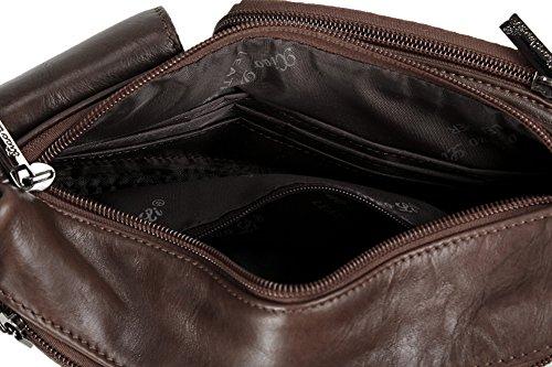 Genda 2Archer Cuero Fanny Pack de Cintura Informal Bolsa de Hombro Sling Pack de Hip