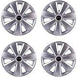 "Autofy 14"" 7 Spokes Snap-On Universal Wheel Cap Wheel Cover Hub Cap (Set of 4, Grey)"