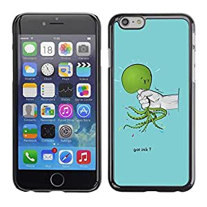 Harte Schutzhülle Hülle für APPLE IPHONE 6PLUS (5.7) - Funny Got Ink Squid Octopus