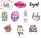 20 Typographie-Postkarten-Set, 10 Motive mit jeweils 2 Karten, Spruchkarten, Sprüche-Postkarten (Set 1)
