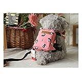 Geschirr Rucksack verstellbar mit Leine Tasche Rucksack für Welpen kleine Hunde Staubsaugerbeutel Tragbare Haustiere Geschirr Praxis für Außen Kriech Rosa Junge