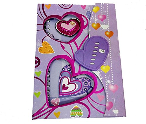 ARTBOX Heart Print Safe Diary Protected With 6 Password For Girls