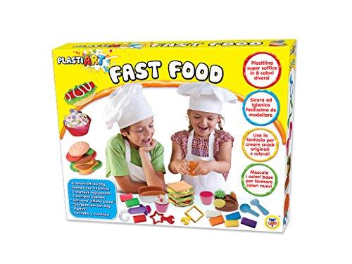 TEOREMA Théorème 63994–plastiart Fast Food avec 8Couleurs de Pâte