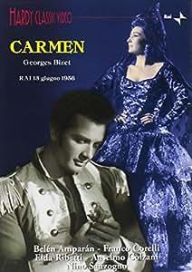 Bizet - Carmen / Corelli, Amparan, Colzani, Ribetti, Sacchetti, Cassinelli, Sanzogno, Milano