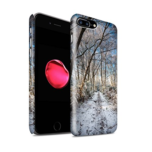 STUFF4 Matte Snap-On Hülle / Case für Apple iPhone 8 Plus / Sumpfland Muster / Winter Saison Kollektion Gefrorenen Weg