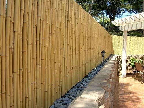 DE-COmmerce Hochwertiger Garten Zaun Sichtschutz Bambus ATY Nature I Garten, Terrasse, Balkon Sichtschutz Bambus mit geschlossenen Rohren I Windschutz Bambus 180 cm x 500 cm