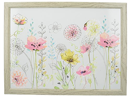 Creative Tops den täglichen Gebrauch Zuhause Gepolsterte Sitzsack Knietablett mit 'Aquarell Skizze' dekorativer Print, 44x 34cm (44,5x 34,3cm), MDF, Multi/Farbe, 43,8x 33,8x 9,5cm