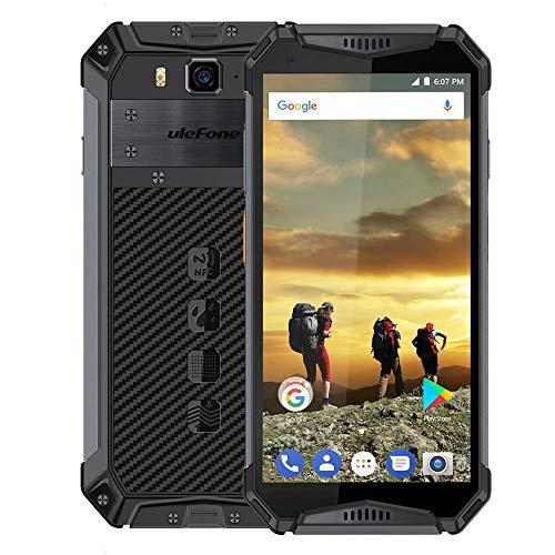 "Ulefone Armor 3 IP68 Teléfono móvil Impermeable Android 8.1 5.7\""FHD + Octa Core 4GB + 64GB 21MP 10030mAh Versión Global Teléfono Inteligente (Negro)"