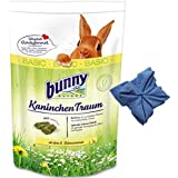 4 kg Bunny Kaninchen Traum Basic Futter für Zwergkaninchen + Microfasertuch