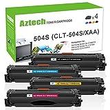 aztech 4Pack XXL compatible para Samsung CLT-K504S CLT clt-504s CLT CLT-K504S CLT-C504S CLT-M504S CLT-Y504S CLT de p504C tóner para Samsung Xpress C1860FW Samsung Toner Samsun...