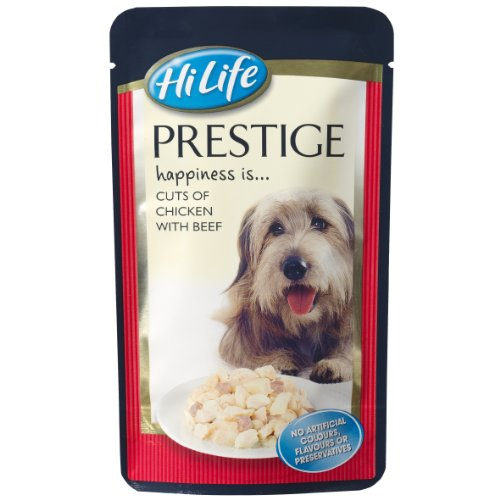 Prestige Food (HiLife Prestige Dog Food Cuts of Chicken with Beef '14 x 150g Pouches')