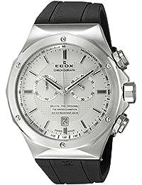 Hombre Edox 101073CA Ain Delfin Analógica Display Reloj Negro de cuarzo suizo