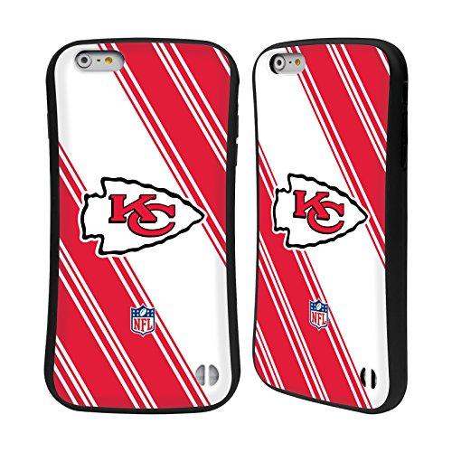 Ufficiale NFL LED 2017/18 Kansas City Chiefs Case Ibrida per Apple iPhone 6 Plus / 6s Plus Righe