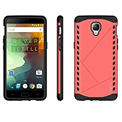 Heartly Hybrid Slim Dual Layer Hard Rugged Shock Proof Tough Armor Bumper Back Case Cover For OnePlus 3T / OnePlus 3 / One Plus 3 - Cute Pink