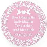 24 PERSONALISIERTE runde Etiketten zur Hochzeit mit Motiv: rosa - Ihre Aufkleber online selbst gestaltet, ganz individuell