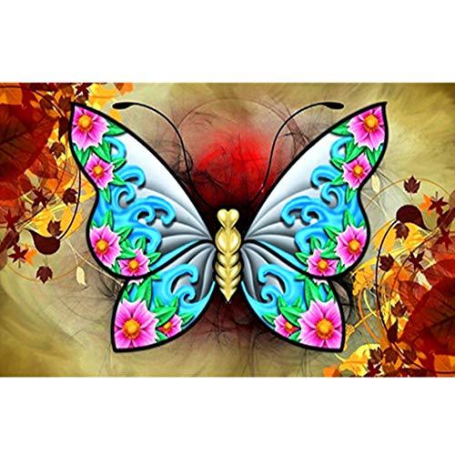 (friendGG❤Diamond Malerei Kits Vollbohrer, DIY 5D Strass Kristall Stickerei Bilder Kreuzstich Kunsthandwerk Für Wohnkultur DIY Malerei, Kunst Wand)
