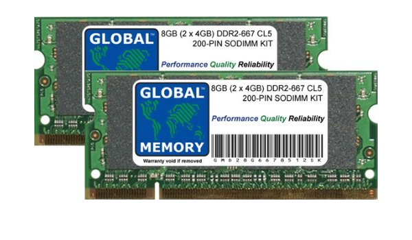 8gb Ddr2 667mhz Pc2 5300 200 Pin Sodimm Memory Ram Kit Computers Accessories