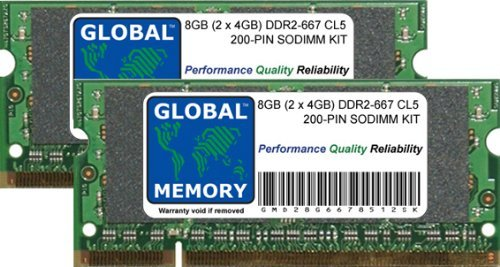 8 GB (2 x 4 GB) DDR2 667 MHz PC2-5300 200-PIN SODIMM Memory RAM Kit für Laptops/notebooks - Ddr2-cas Latency