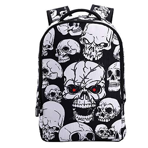 ZXF Trekkingrucksäcke männlich Trendige Mode Shantou Reiserucksack Persönlichkeit Student Tasche Halloween Dress Up Backpack (Pattern : D) (Up Für Dress Halloween Arbeit Die)
