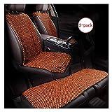 WANNA.ME Coprisedile per Auto Cuscino per Protezione Cuscino Massaggio con Perline in Legno Naturale Tappeto Freddo Interni Auto, 1 Pacchetto / 2 Pezzi / 3 Pezzi (Dimensioni: 3 Pezzi)