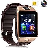 "Armband Telefon Uhr,TKSTAR Armbanduhr Bluetooth Smart uhr 1.56"" TFT LCD Touch Screen Smart Watch mit 1.54 Zoll Display / SIM Kartenslot / Schrittz?hler / Schlafanalyse / SMS Facebook Vibration f¨¹r Android Smartphone DZ09"