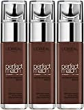 L' Oréal Paris–Fondotinta Fluido Accord Parfait caffè profondo (11.n) 30ml–Confezione da 3