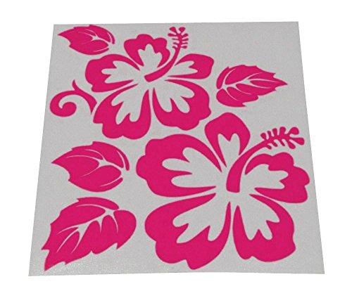 AERZETIX: Pegatina de vinilo flor para coche de interior y exterior (Rosa)