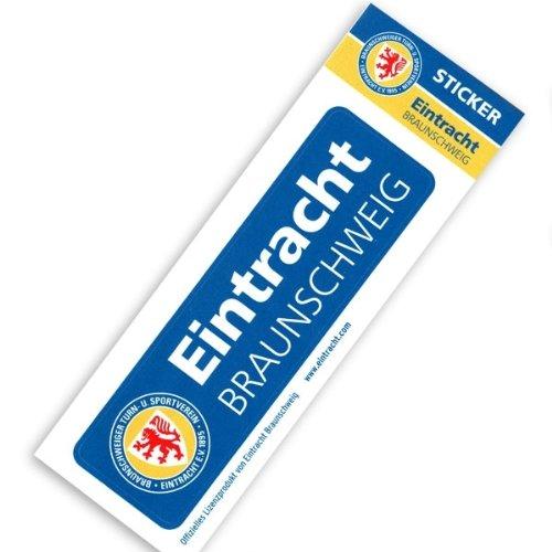 Preisvergleich Produktbild Eintracht Braunschweig Sticker Schriftzug, 15,5x4,5cm, hochwertige PVC-Folie, witterungsbeständig