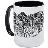 CafePress–Bob weiß Wachtel–Kaffee Tasse, groß 15Oz Weiß Kaffee Tasse Large White/Black Inside