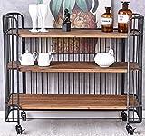 Barwagen Loft Servierwagen Dinett Teewagen Minibar Hausbar Barschrank Weinregal Palazzo Exklusiv
