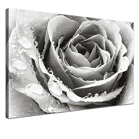 Lana KK - Liebe SW - edel Leinwand Bild Kunstdruck auf Keilrahmen, fertig gerahmt in 100 x 70 cm, einteilig