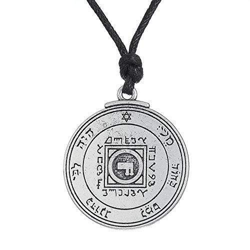 Fishhook Wicca clave de solomón sello Ultimate Love Talisman Venus Pentacle Hermetic Enoquiana Kabbalah colgante collar