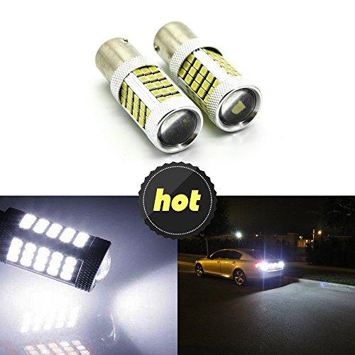 2bombillas LED blancas 1156283566SMD, para luz de marcha atrás, intermitentes, frenos y luz de circulación diurna P21W 11567506BA15S