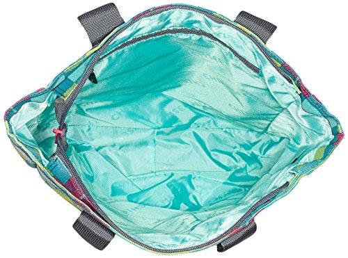 Chiemsee Sport 15 Borsa Tote 43,5 Cm Karo Blue Caba Blu/Fucsia/Giallo