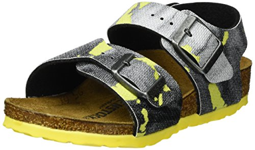 sex-Kinder New York Riemchensandalen, Mehrfarbig (City Camo Yellow), 30 EU (Kid City Sports)