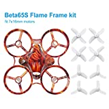 BETAFPV Beta65S 65mm Whoop Frame Kit Flame Freestyle Frame Canopy 31mm 3-Blade Props 4-Blade Props for 7x16mm Motors Like Eachine E011 Tiny Whoop Drone