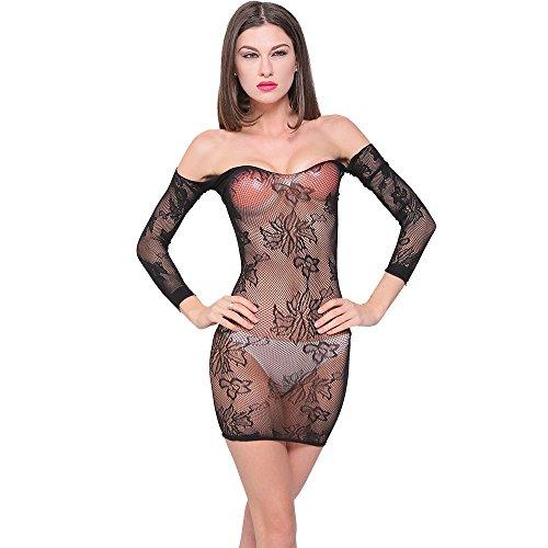 Zolimx Frauen Sexy Strümpfe Sexy Open Printing Unterwäsche, Mesh Aushöhlen Verführung Dessous,Frauen-reizvolle Wäsche-Maschen-Uniform -