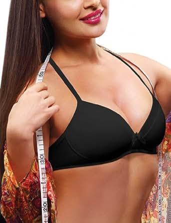 Lovable Women's Blend Soft Cup Cotton Bra (Piece) (CONFI-3712_Black_32B)