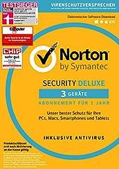 Symantec Norton Security Deluxe | 3 Geräte | PC/Mac/Smartphone/Tablet | Download