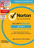 Software - SYMANTEC Norton Security Deluxe (3 Geräte - PC, Mac, Smartphone, Tablet)