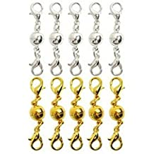 LEORX 10pcs magnetischer Karabiner für Schmuck Halskette Armband