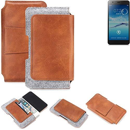 K-S-Trade® Gürteltasche Für Jiayu S3+ Gürtel Tasche Schutz Hülle Hüfttasche Belt Case Schutzhülle Handy Hülle Smartphone Sleeve Aus Filz + Kunstleder (1 St.)