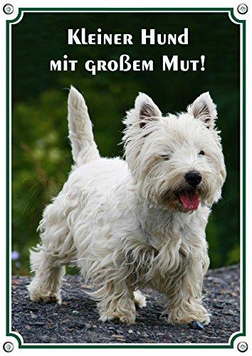 Petsigns Hundeschild - Westie - hochwertiges Alu Schild, wetterfest und uv beständig, 1. DIN A5