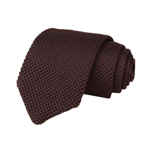 Los Hombres De Punto Crochet Rayas Corbata Boda Fiesta CláSica Corbatas De Cuello (L, 148*7*4cm/57.2*2.8*1.6')