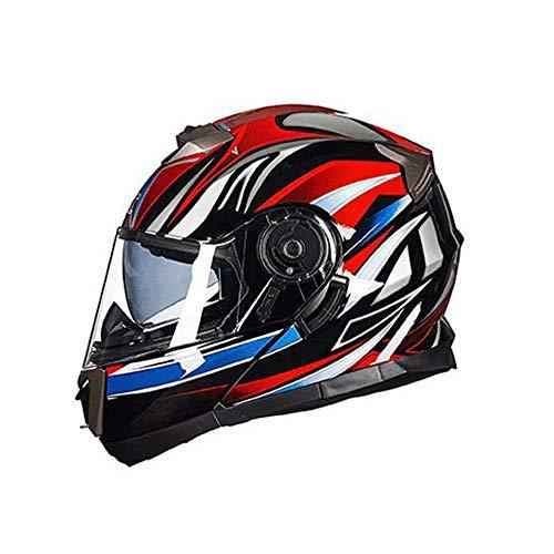 Casco moto fuoristrada anti-appannamento Casco moto cross adulto anti-aderenza per casco integrale per tutte le stagioni Casco Moto di sicurezza