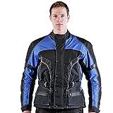 Best veste de moto - Lemoko veste de moto en tissu noir/bleu Review