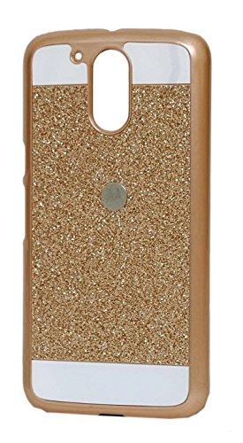 HighSky Shiny Crystal Bling Glitter Thin Hard Back Case For Motorola Moto G4/G4 plus (Gold)
