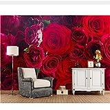 Meaosy Custom Roses Closeup Molti Fiori Rossi Foto Wallpaper, Soggiorno Divano Tv Camera Da Letto Ristorante Ktv Bar-200X140Cm