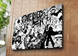 LaModaHome Deko Leinwand Art Wand (71,1x 99,1cm) Holz Dick Rahmen Gemälde One Piece Anime Manga Magazin Series Comic Book Multi Varianten in Store.